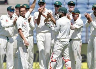 pune test india secures 105 runs in first innings