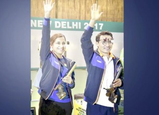 shooting world cup gold for indian team