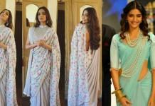 sonam kapoor sari styles