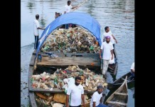 young men cleaned piravom river