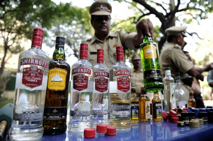 63 liquor bottle seized by perumbavoor police