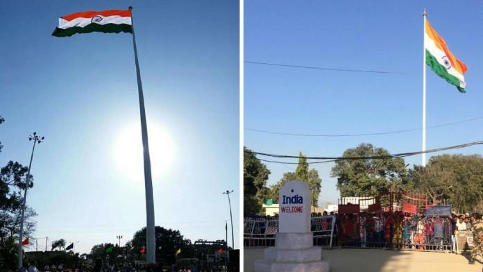 highest national flag at india pak border