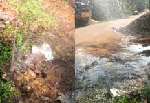 drinking water pipe damaged at kadayirupp