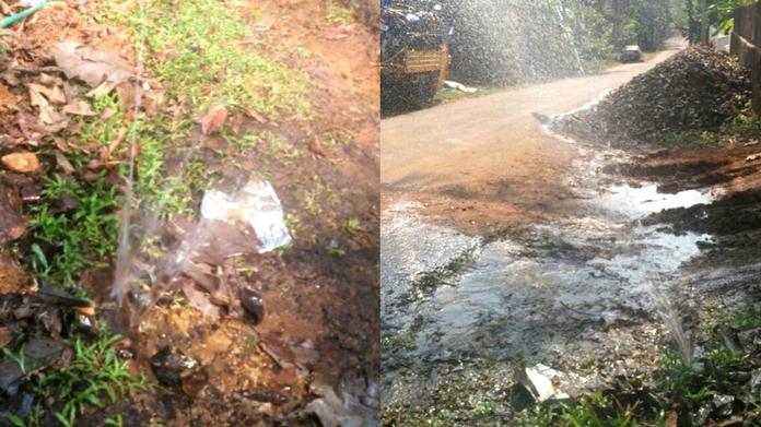 drinking water pipe damaged at kadayirupp