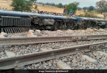 train derailed at UP