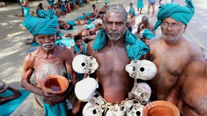 skull protest