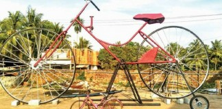 world largest bicycle in kakkodi
