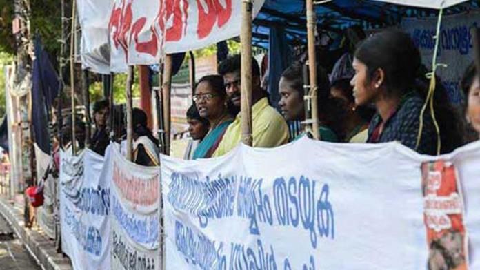 Adivasis go for stand strike