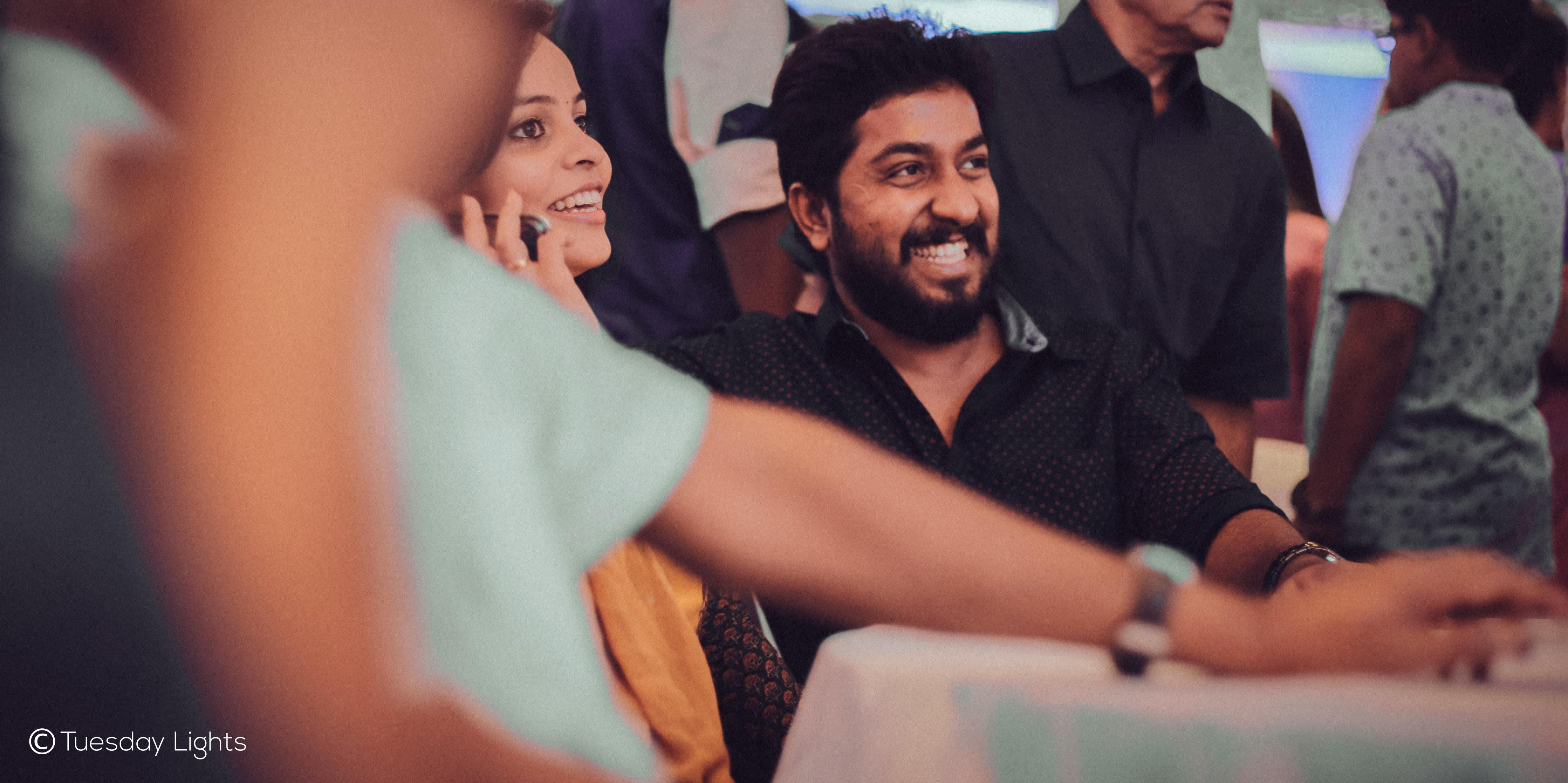 dhyan sreenivasan engagement pics