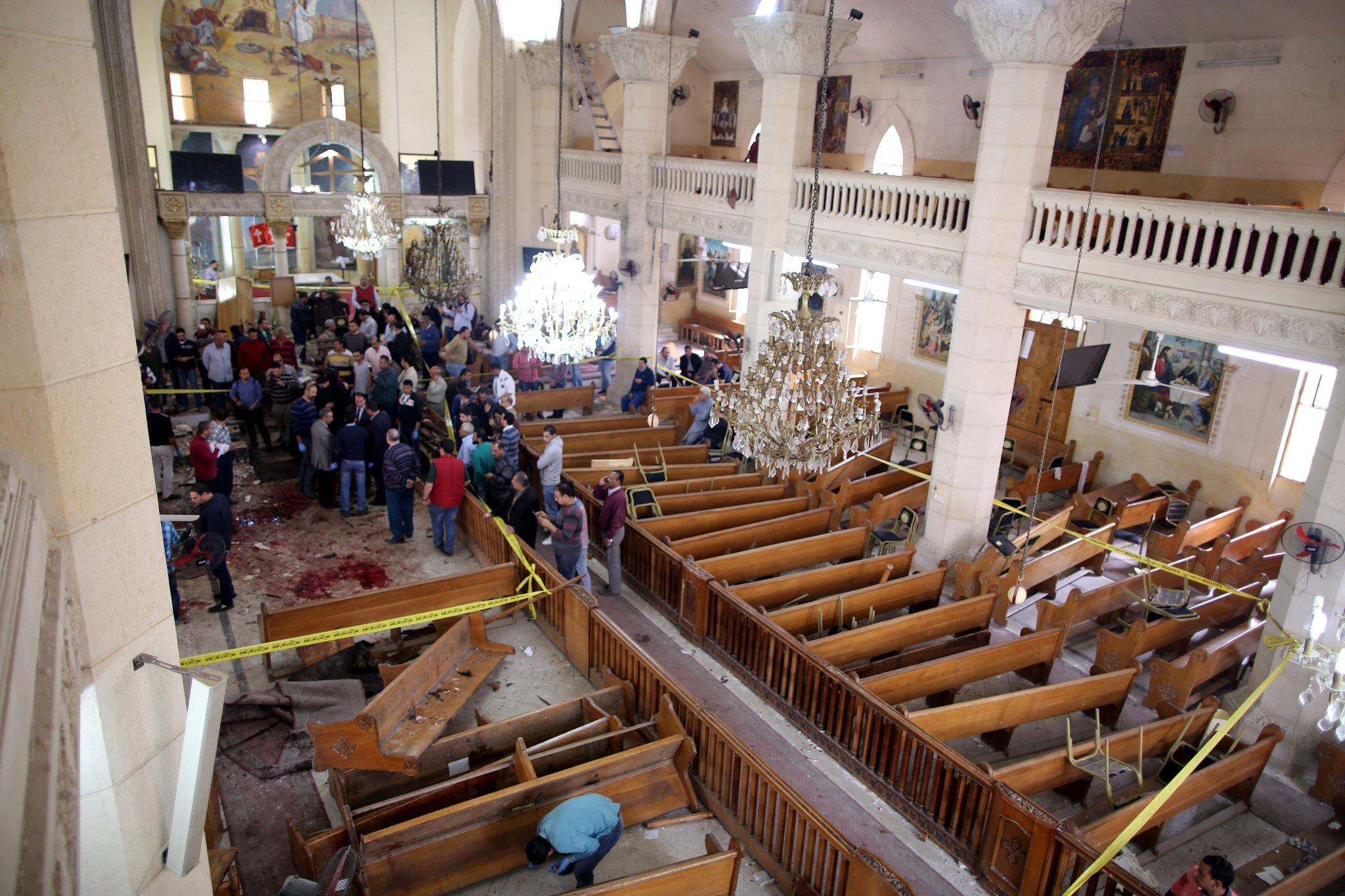 Explosions hit Coptic churches