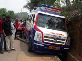 ambulance met with an accident at venjarammoodu