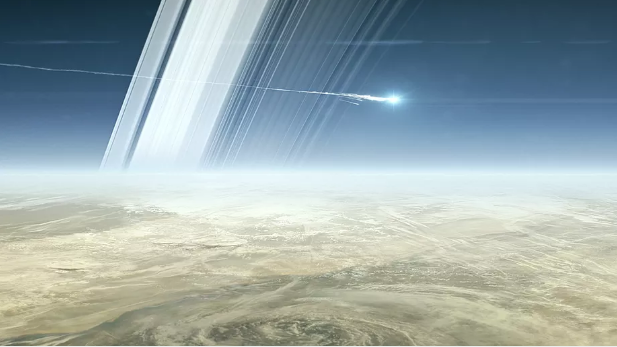 Cassini dive between Saturn rings