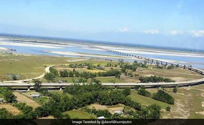 indias longest bridge construction completed
