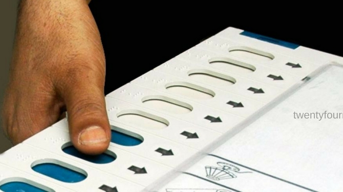 election commission launches new voting machine all part meet today discusses voting machine flaws local body elections to 12 wards on sept 14 gujarat court rejected plea to replace old voting machines