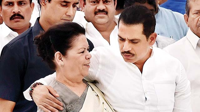 security 13 including robert vadra mother withdrew