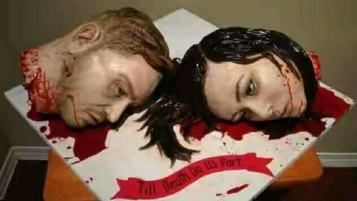 Till death do us part, wedding cake