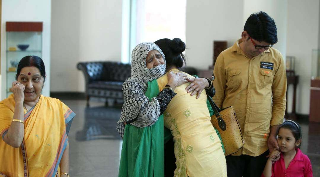 Uzma returns to India
