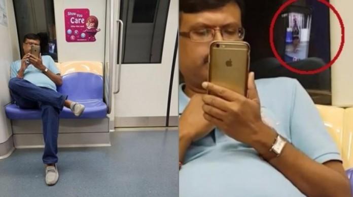 man secretly film indian woman singapore metro