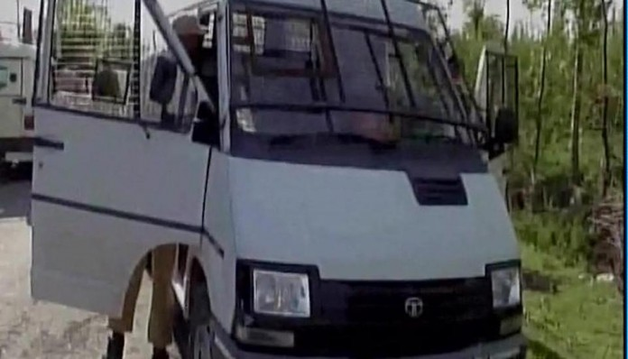 terrorist attack, bank vehicle , jammu kashmir