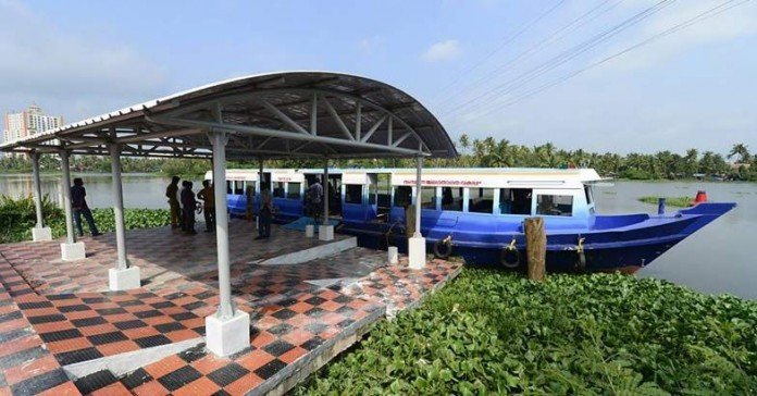 uniform color kochi boats direction to plan water metro first phase project