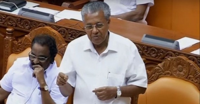 pinarayi vijayan , adjournement motion Kerala assembly passes motion against slaughter ban, beef fest, beef ban