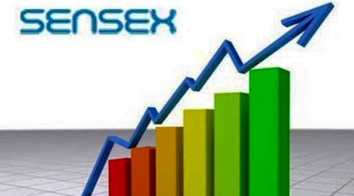 stock market sensex 218 gain sensex 124 point gain