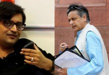 sashi taroor defamation case against arnab goswami