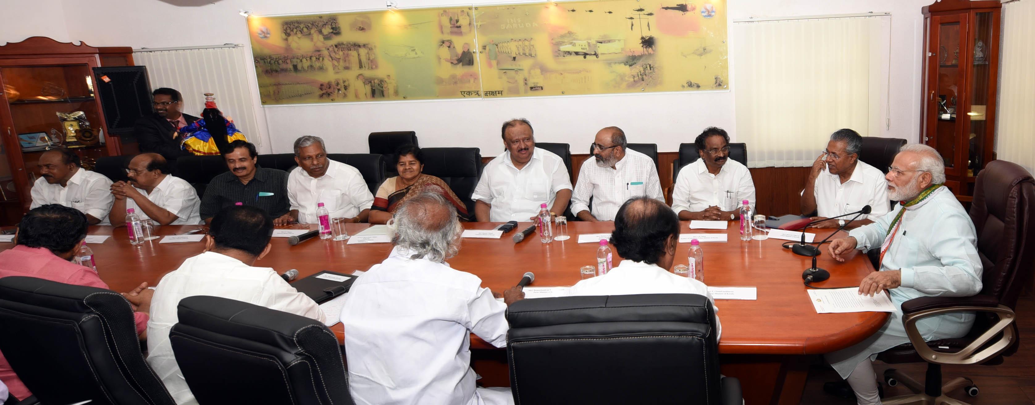 pm meets kerala ministers