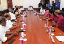 pm meets kerala ministers