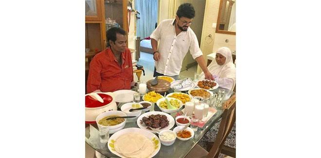 salim kumar iftar nadirsha home ramadan