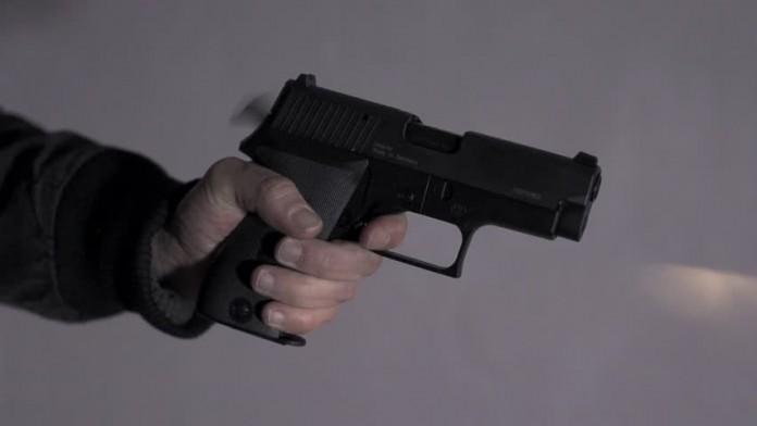 American teachers training in weapon using