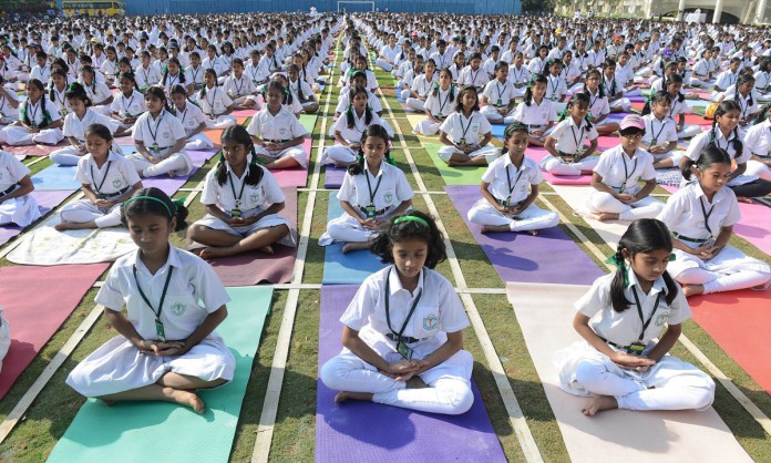 state initiates yoga teaching from this year says education minister yoga not mandatory in school says sc