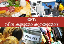 how GST affects price of different goods and services