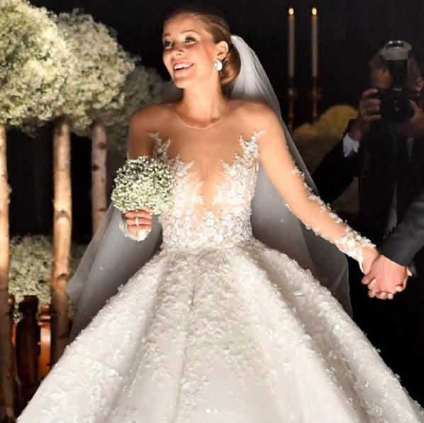 victoria Swarovski million dollar wedding gown