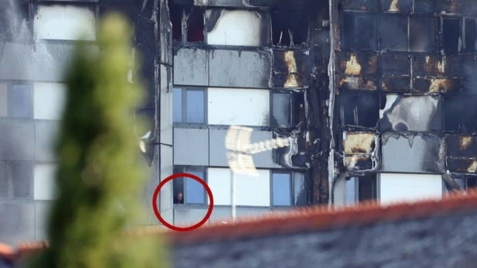 london fire mother throws kid out of 10th floor