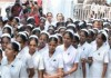 nurses strike thrissur nurses salary hike govt holds meeting today nurses indefenite strike begin today