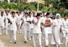 nursing nursing students stopped strike