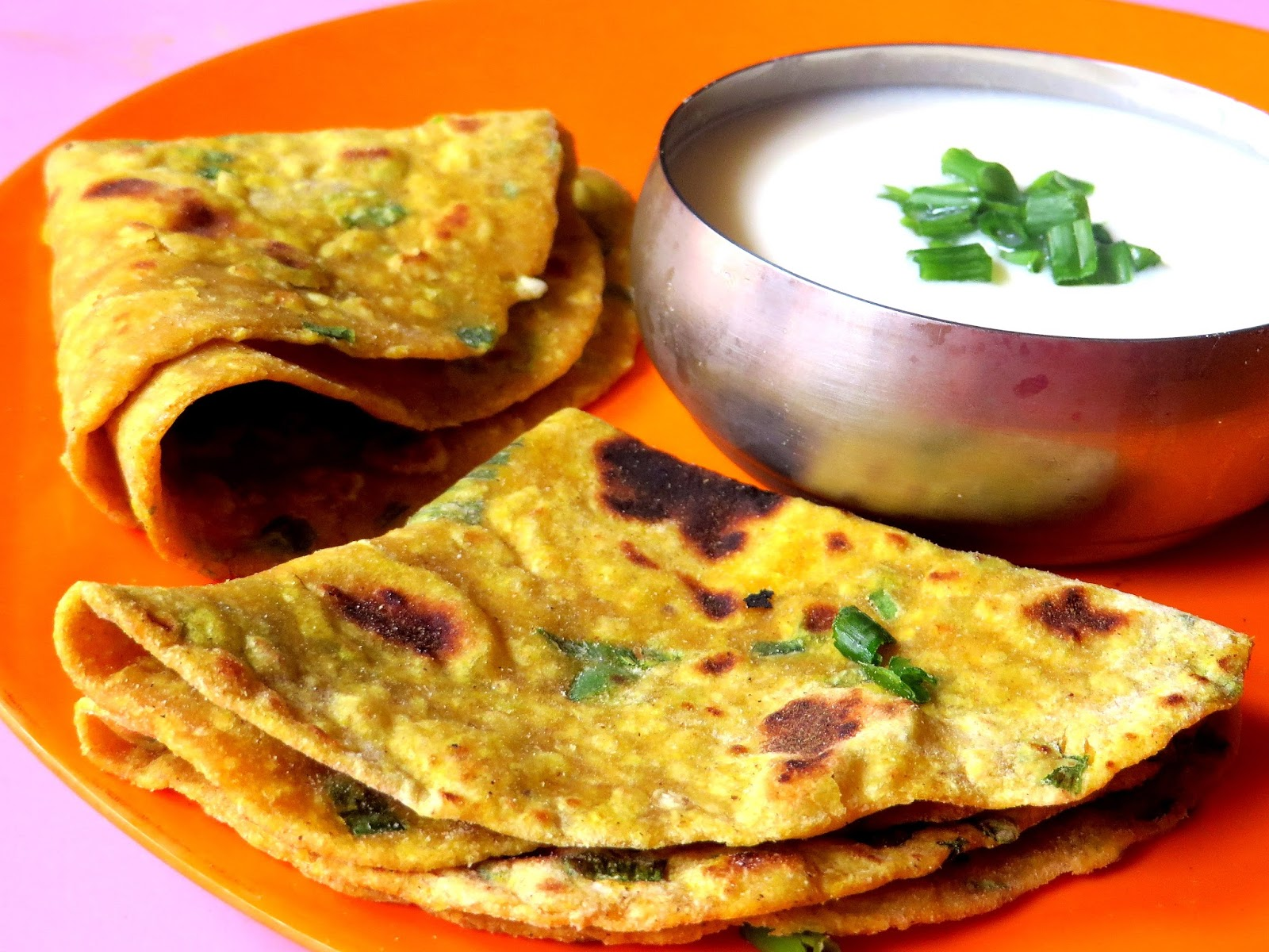 spring onion chapathi