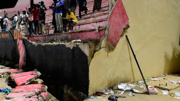 senegal stadium wall collapsed
