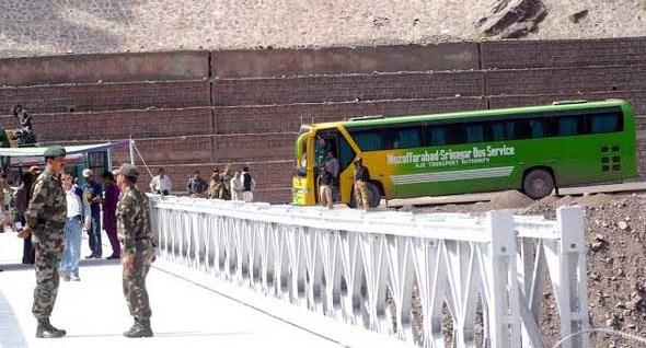 kashmir bus service temporarily stopped