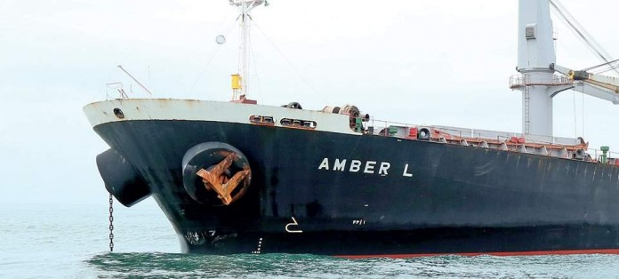 amber L ship crashed with fishing boat case captain arrested