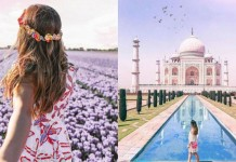 British travel blogger fake images
