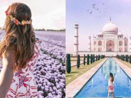 British travel blogger fake images