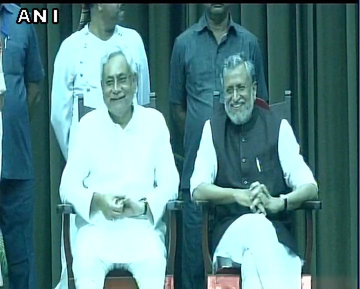 Nitish Kumar and Sushil Modi sworn in as Chief Minister and Deputy CM of Bihar respectively