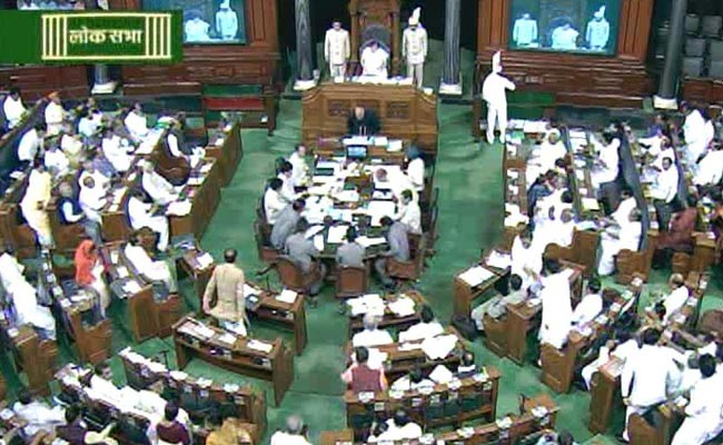 Indian-Parliament-Lok-Sabha tumult in lok sabha