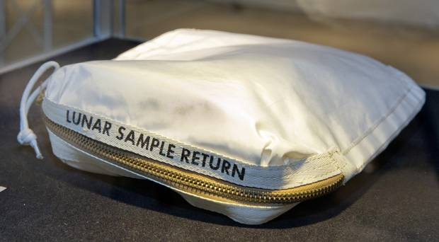 Neil Armstrong moon bag sold for 1.8 million dollars