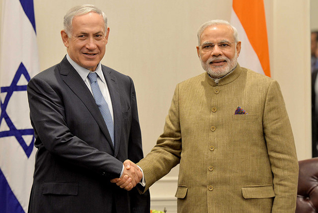 israel newspaper ediotrial about modi keeping mum on palestine issue