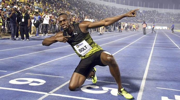 usain bolt won in monocco diamond league