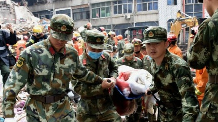 china building collapsed death toll touches four