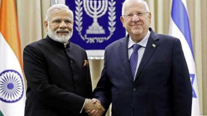 india pm with isreal president